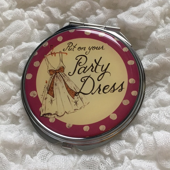 Put On Your Party Dress Compact Pocket Mirror
